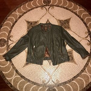 Dollhouse Faux Leather Jacket 🐆